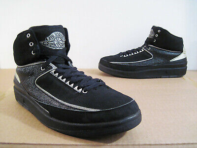 newest 2cf3e 405c8 NIKE AIR JORDAN 2 II 2004 Basketball Shoes Sneakers Black Chrome Men's Size  11