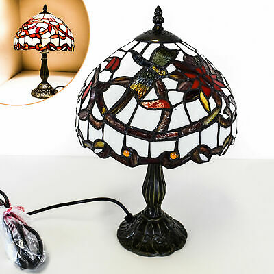 NEW TIFFANY STYLE UNIQUE STAINED GLASS DESK TABLE LAMP - 10cm WIDE