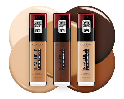 NEW - LOREAL Infallible 24H Fresh Wear Foundation 30ml SEALED - various shades
