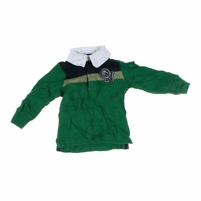 Old Navy Baby Boys Rugby Shirt, size 12 mo,  green,  cotton