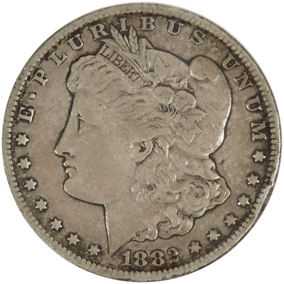 1882-CC $1 Morgan Silver Dollar .7734 ozt