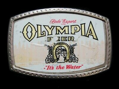 NE01170 VINTAGE 1970s **PALE EXPORT TYPE OLYMPIA BEER** BOOZE BELT BUCKLE