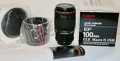 Canon EF 100mm f/2.8L IS USM Macro Lens MINT in Box PERFECT