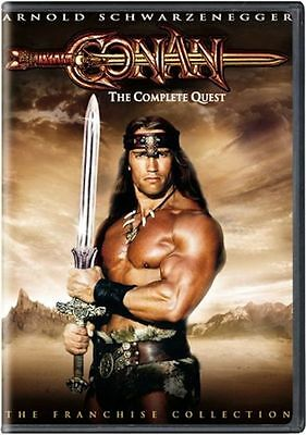 Conan: The Complete Quest (DVD, 2004, 2-Disc Set) RARE OOP 1980'S BRAND NEW
