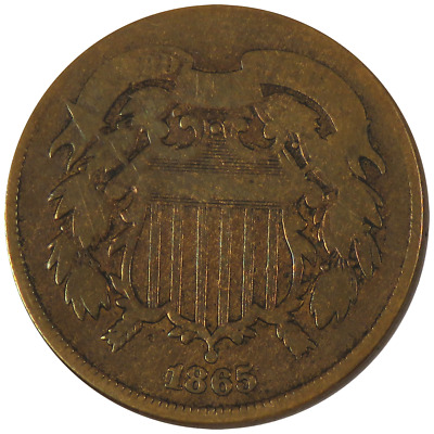 1865 2c Shield Two Cent Piece