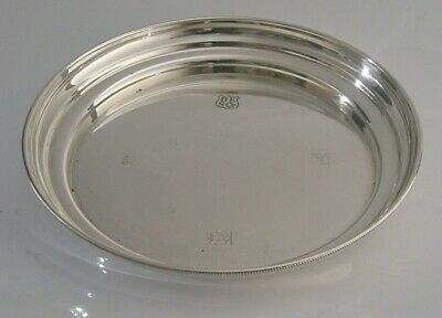 Nice Quality English Sterling Silver Dish Wine Coaster 1972
