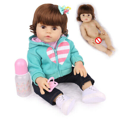 "16"" Lifelike Reborn Baby Doll Full Body Silicone Anatomically Xmas Gifts Dolls"