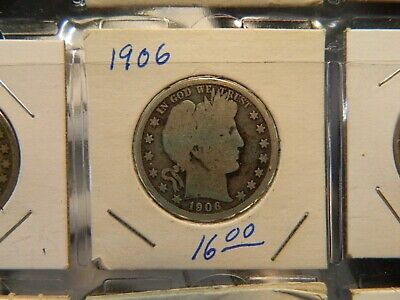 Barber Half Dollar Circulated Raw As Shown 1906 #2