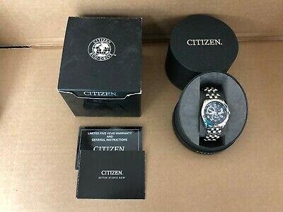 Citizen Eco Drive Calibre 8700 E870-s015278 Men's Stainless Steel Blue Watch