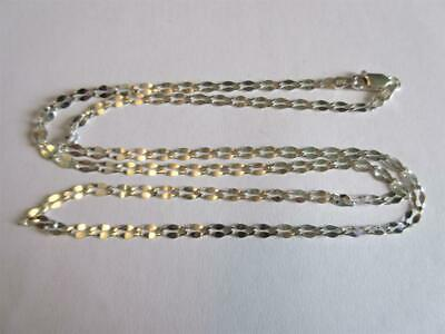 """VINTAGE STERLING SILVER 20"""" long FANCY LINK NECKLACE, CHAIN by MILOR - 3.6g!"""