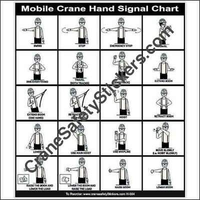 Mobile Crane Hand Signal Chart With Dog Everything Hand Signal