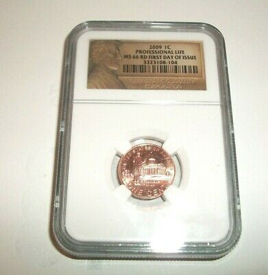 2009 Lincoln Professional Life Ngc Ms66 Rd First Day Of Issue Penny 1 Cent Coin