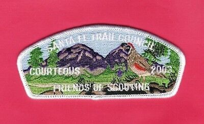 "Boy Scout Patch Santa Fe Trail Council 2003 FOS CSP ""Courteous"""