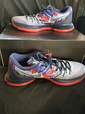 buy popular 13b17 c9efb NIKE KD 8 USA Independence Day Men's Basketball Shoes 749375-446 Size 14