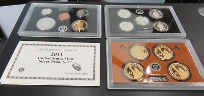 2011 United States Mint Silver 14 Coin Proof Set W/ COA