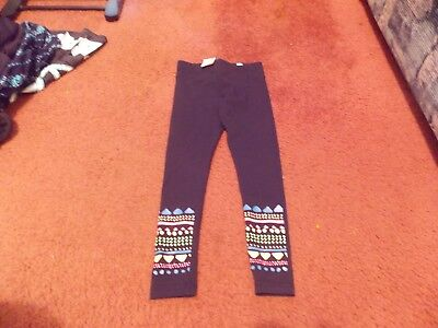 justice- --size 18/20-- black leggings--colorful print on bottom --nwt