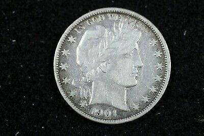 Estate Find 1901 - O BARBER Half Dollar!!   #J00120