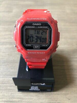 Casio F-108WHC-4ACF Classic Red Resin Band Watch