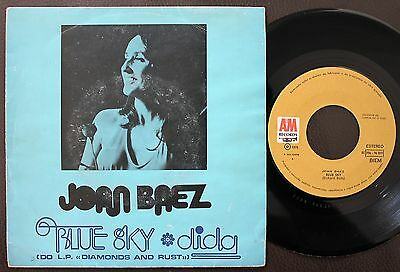 Joan Baez Single Made In Portugal 45 Ps 7 *blue Sky From Diamonds And Rust*