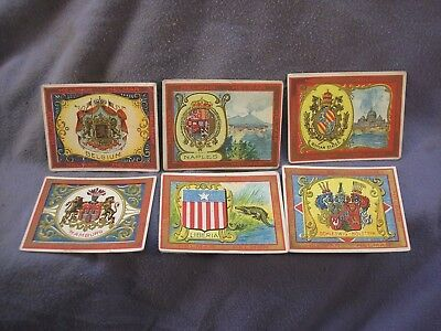 Seals Of Countries  Helmar Cigarette Cards (6) Circa 1910 As Found