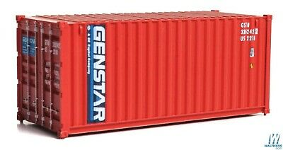 Genstar 20' Corrugated Container HO - Walthers SceneMaster #949-8072  vmf121