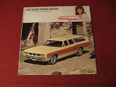 1969 Dodge Station Wagon Big Dealership Sales Brochure Booklet Catalog Old Book