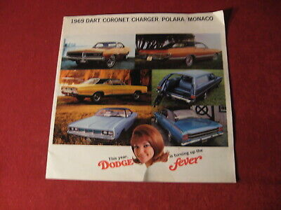 1969 Dodge Coronet Charger Big Dealer Sales Brochure Booklet Catalog Old Book