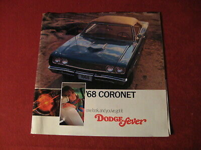 1968 Dodge Coronet Charger Big Dealer Sales Brochure Booklet Catalog Old Book