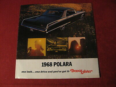 1968 Dodge Polara Dealer Sales Brochure Booklet Catalog Old Book