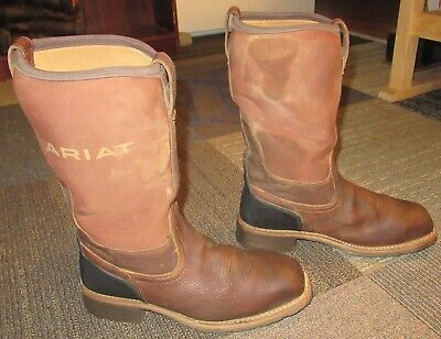 a27f9ded5b8 MENS ARIAT HYBRID All Weather Brown Steel Toe Work Boots sz 12 D
