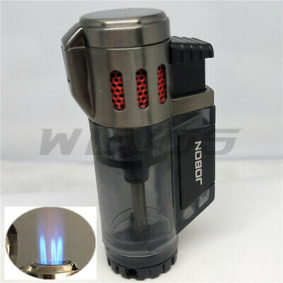 JOBON High-Capacity Triple Jet  Torch Gas Lighter for Pipe Cigar Cigarette