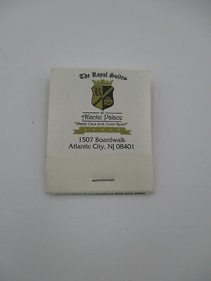 THE ROYAL SUITES at ATLANTIC PALACE VINTAGE MATCH BOOK