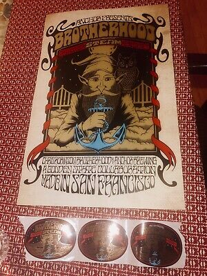CHRIS ROBINSON Brotherhood BLACK CROWES POSTER FORBES BEER W/3Rare Tap Stickers