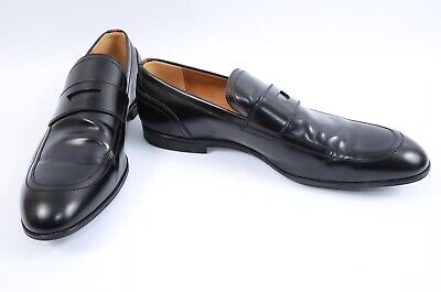 f6a207258bf Gucci Ravello black 11 leather signature web apron penny loafer UK10 shoe   630