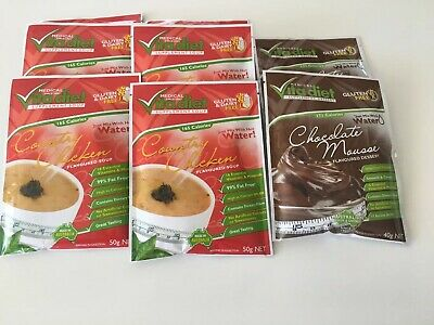 New Vita Diet Weight Loss Country Chicken Soup x 6 & 2 Chocolate Mousse Desserts