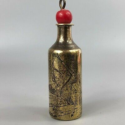 Chinese Brass Handwork Rare Old Antique Zhang Guolao Ride Donkey Snuff Bottle