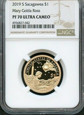 2019 S Sacagawea $1 Mary Golda Ross NGC PF70 Ultra Cameo (Brown Label)
