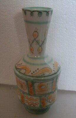 An Old Interesting Hand Painted And Glazed Colored Ceramic Vase
