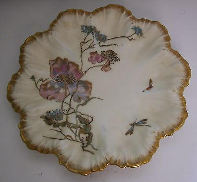 A Fine Antique French Rococo Style Plate Produced By A.lanternier Limoges France