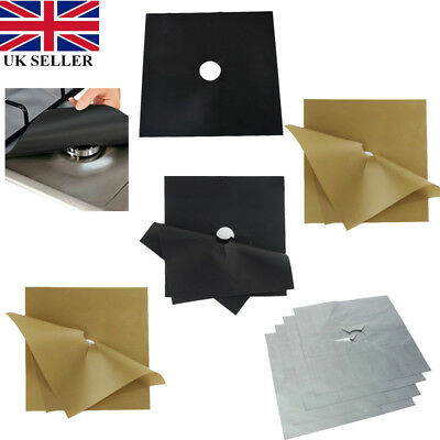 4X Reusable Protector Range Liner Non Stick Gas Hob Stove Top Cooker Cover UK