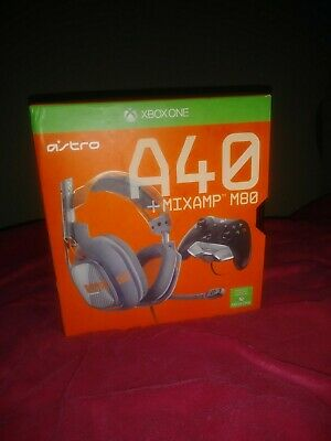 Astro A40 HEADSET + MIXAMP M80 Blue Headband Headsets for Microsoft Xbox One