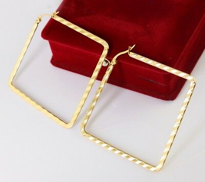 5 Pair wholesale Stainless Steel Fashion Square Hoop Earring Women Jewelry Gold