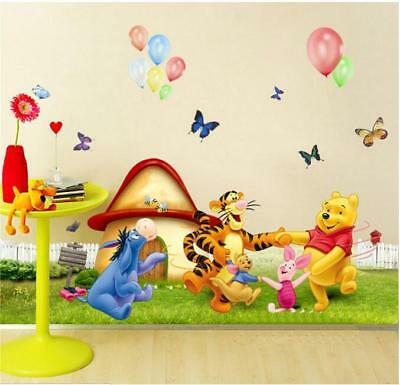 Baby Winnie The Pooh and Tigger Wall Stickers Kids Children Nursery Decal Decor