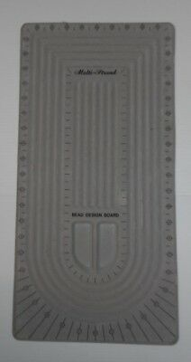"Multi-strand Design Bead Board Size: 10 1/2"" wide x 21"" Long with grey finish"