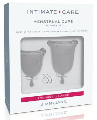 Jimmyjane Intimate Care Menstrual Cups - 2 Sizes - Clear