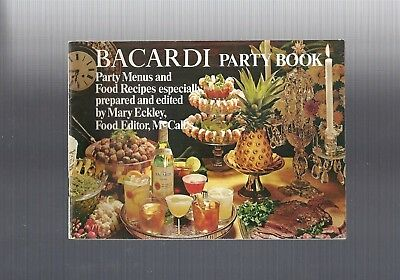 1969 collectible BACARDI RUM PARTY BOOK, Cocktail Recipe Booklet