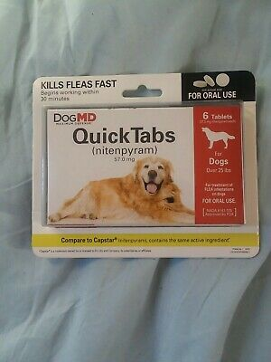 Quick Tabs Dog MD QuickTabs Flea Treatment for Dogs over 25 lbs, 6 Tablets