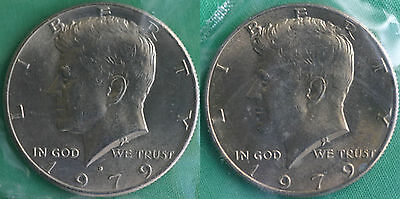 1979 P//D Kennedy Half Set UNC IN CELLO FROM MINT