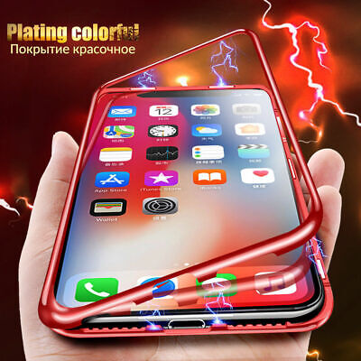 Funda Para Apple iPhone XR XS Max X 8 7 6S 6 Plus Magnética Metal Carcasa Case