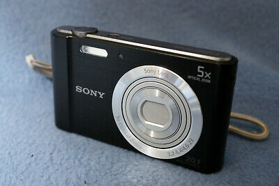 Sony DSC-W800 Cyber-shot 20.1MP Digital Camera - Black
